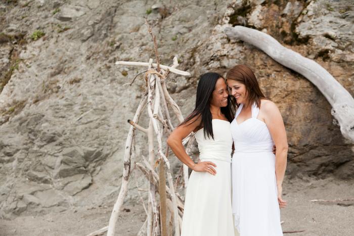 lesbian elopement at bodega bay