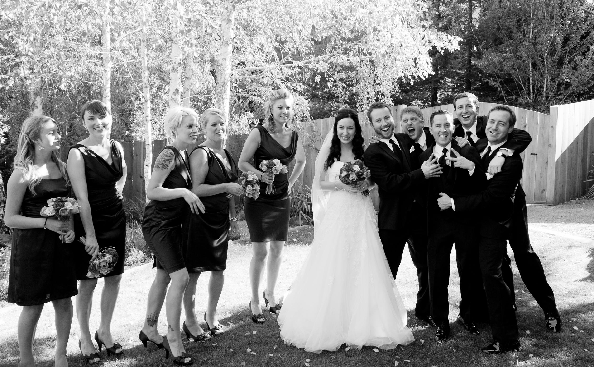 Wedding party at sebastopol wedding