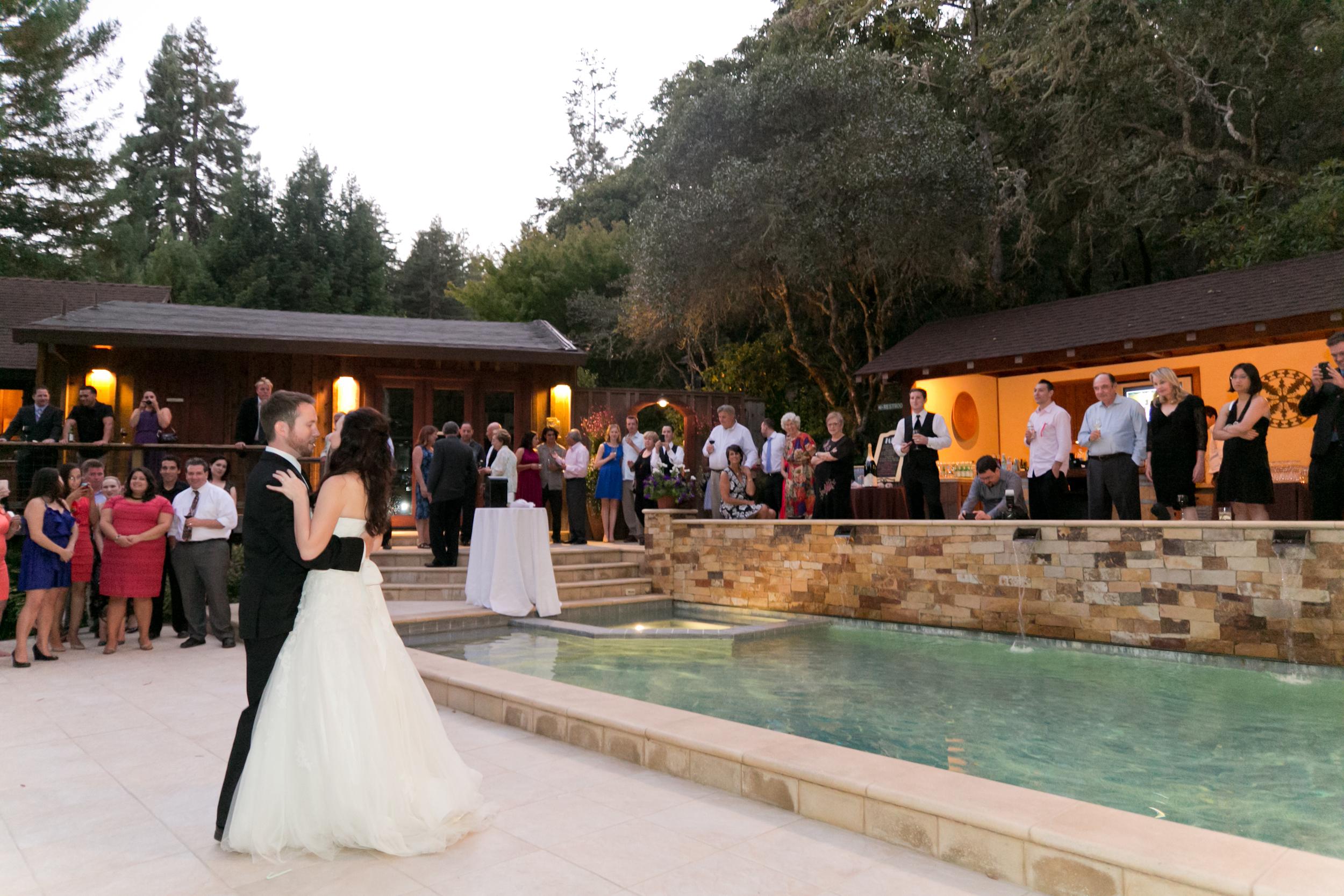 first dance at sebastopol wedding redwood hill gardens