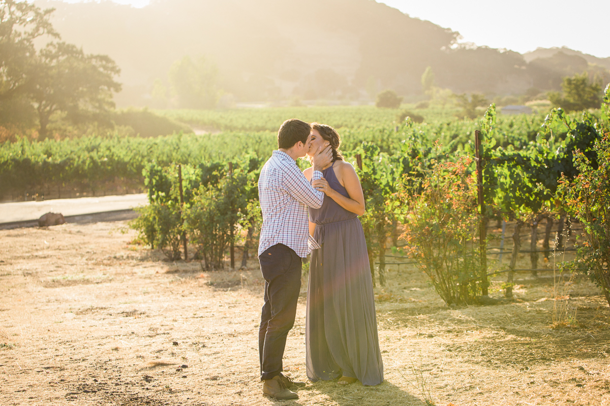 sonoma county vineyard engagement photographer