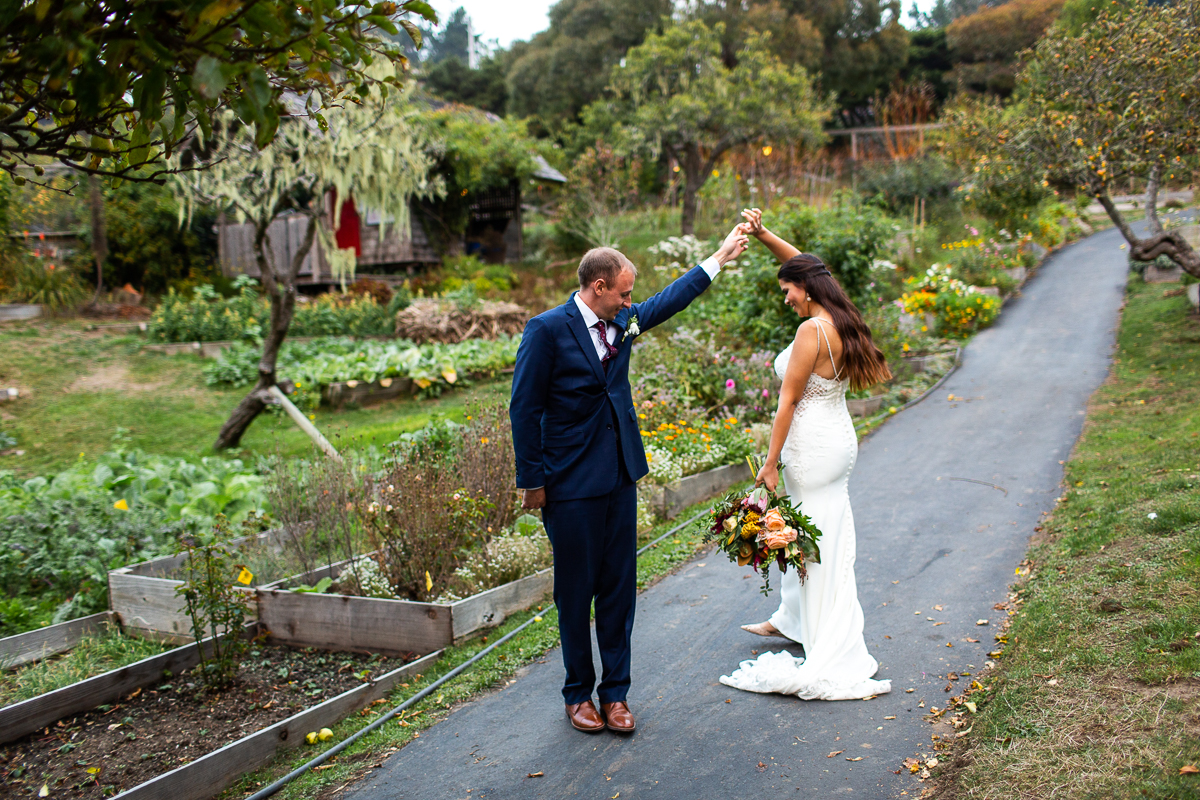 mendocino elopement at the stanford inn