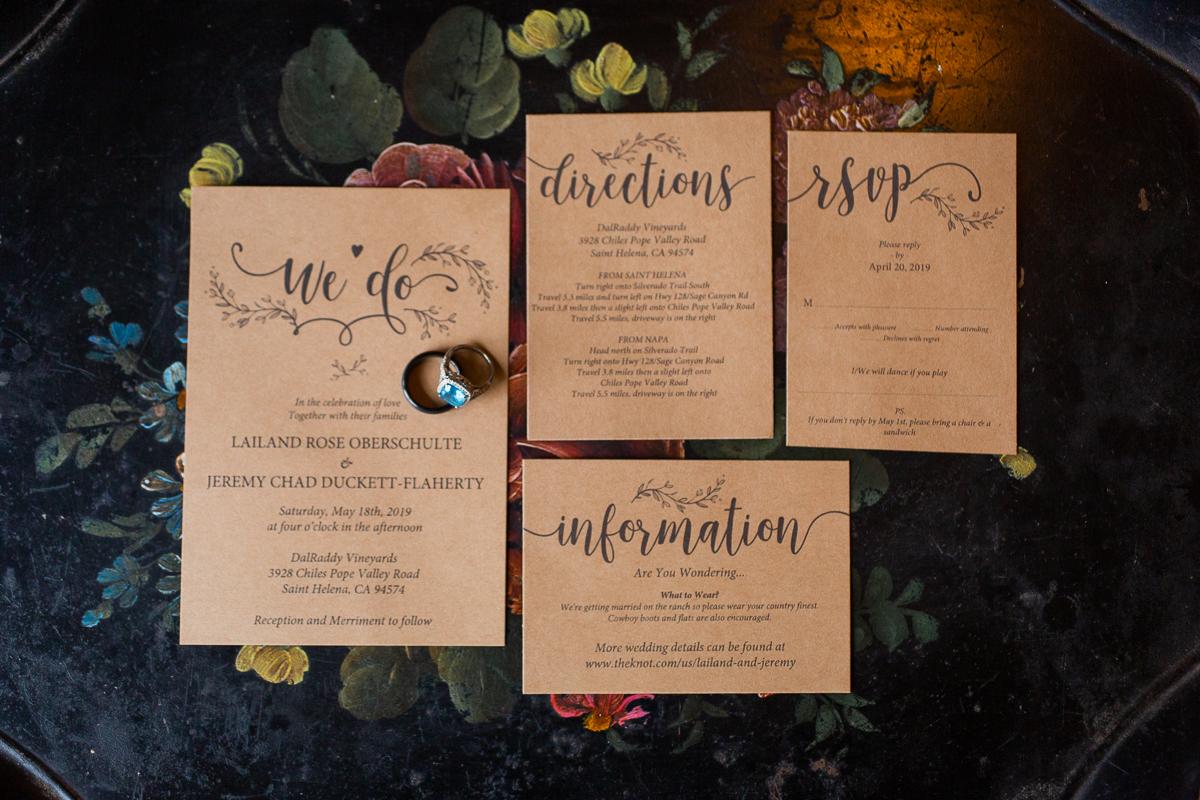 St. Helena Vineyard Wedding