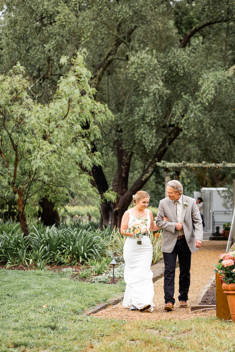 st. helena wedding at private estate