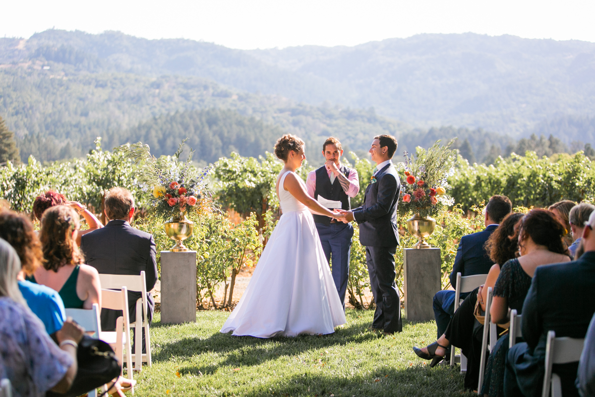 st. helena wedding at harvest inn