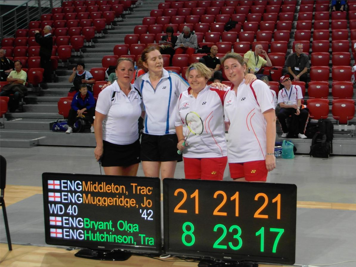 England take gold and Sofia in 2012 European Masters O40 Ladies.