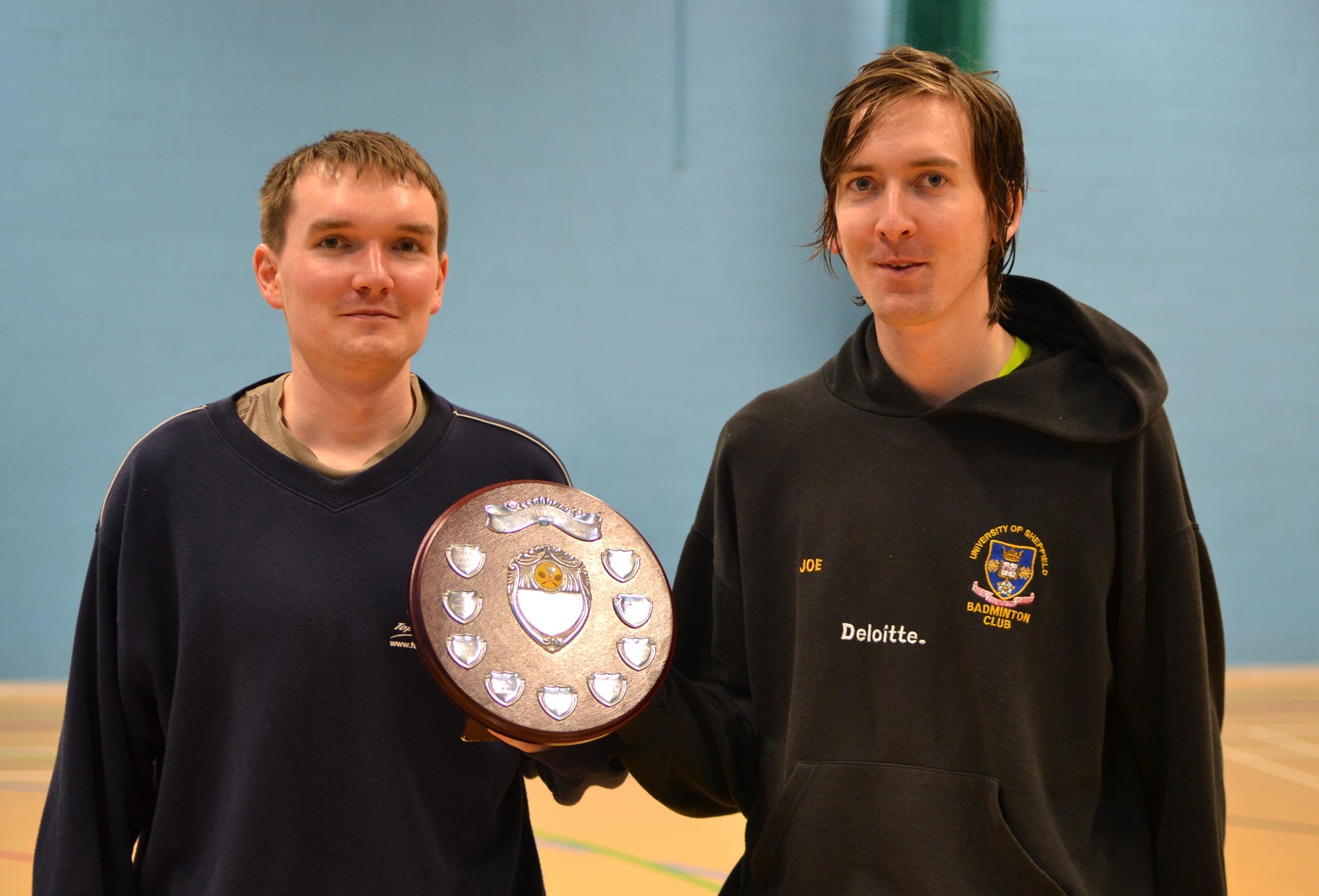Stephen and Joe Pickering: Mens doubles plate winners (both years)