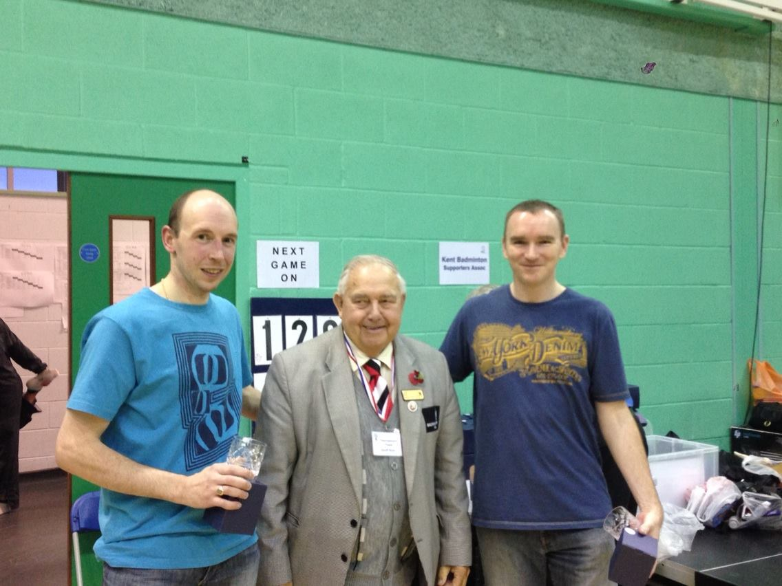 Dan Bates & Neil Place: Gold Medalists O35 MD, Kent Masters Gold 2013