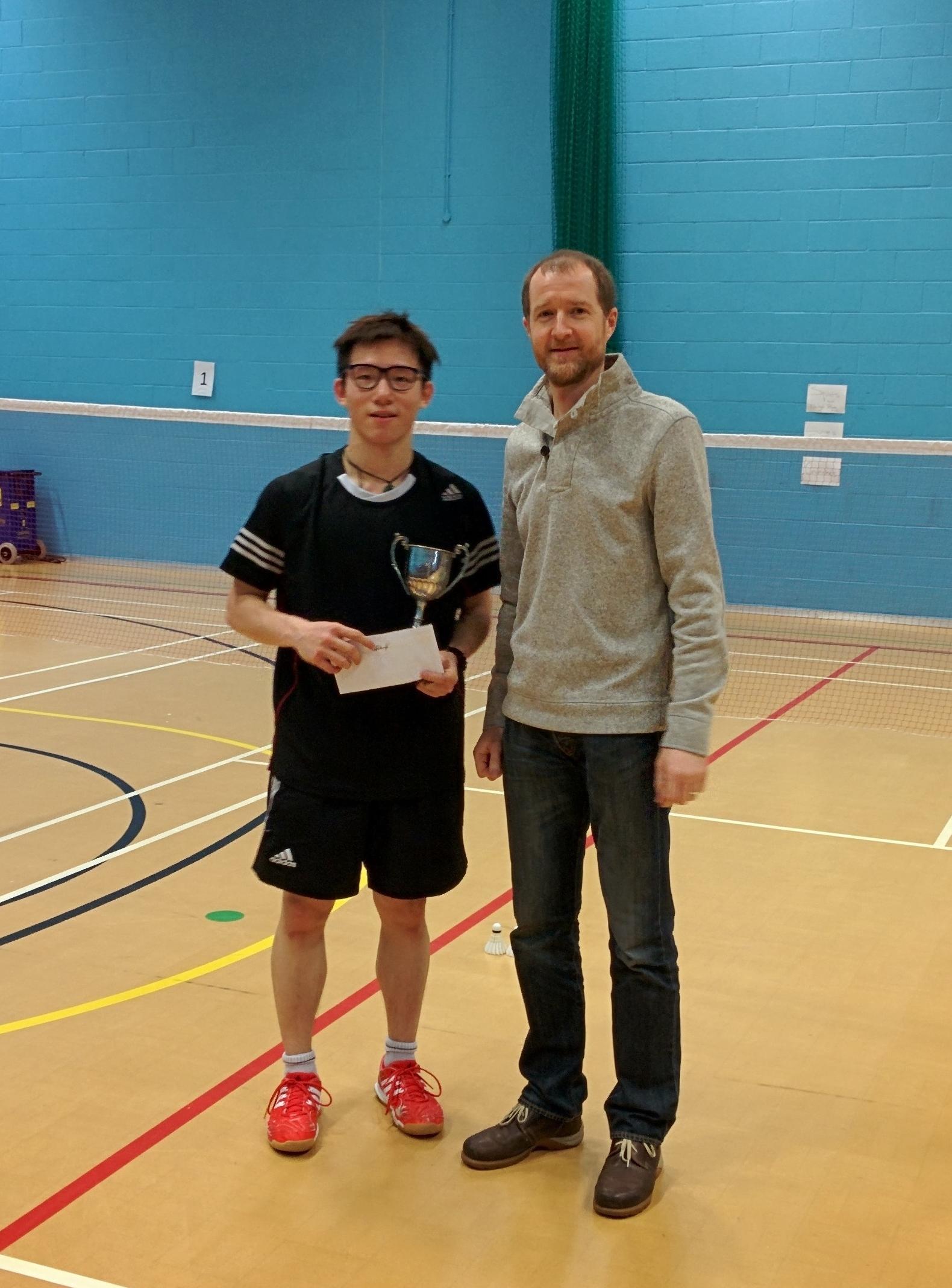 Harry Wang: Winner, Mens Singles Cambridgeshire Senior Silver