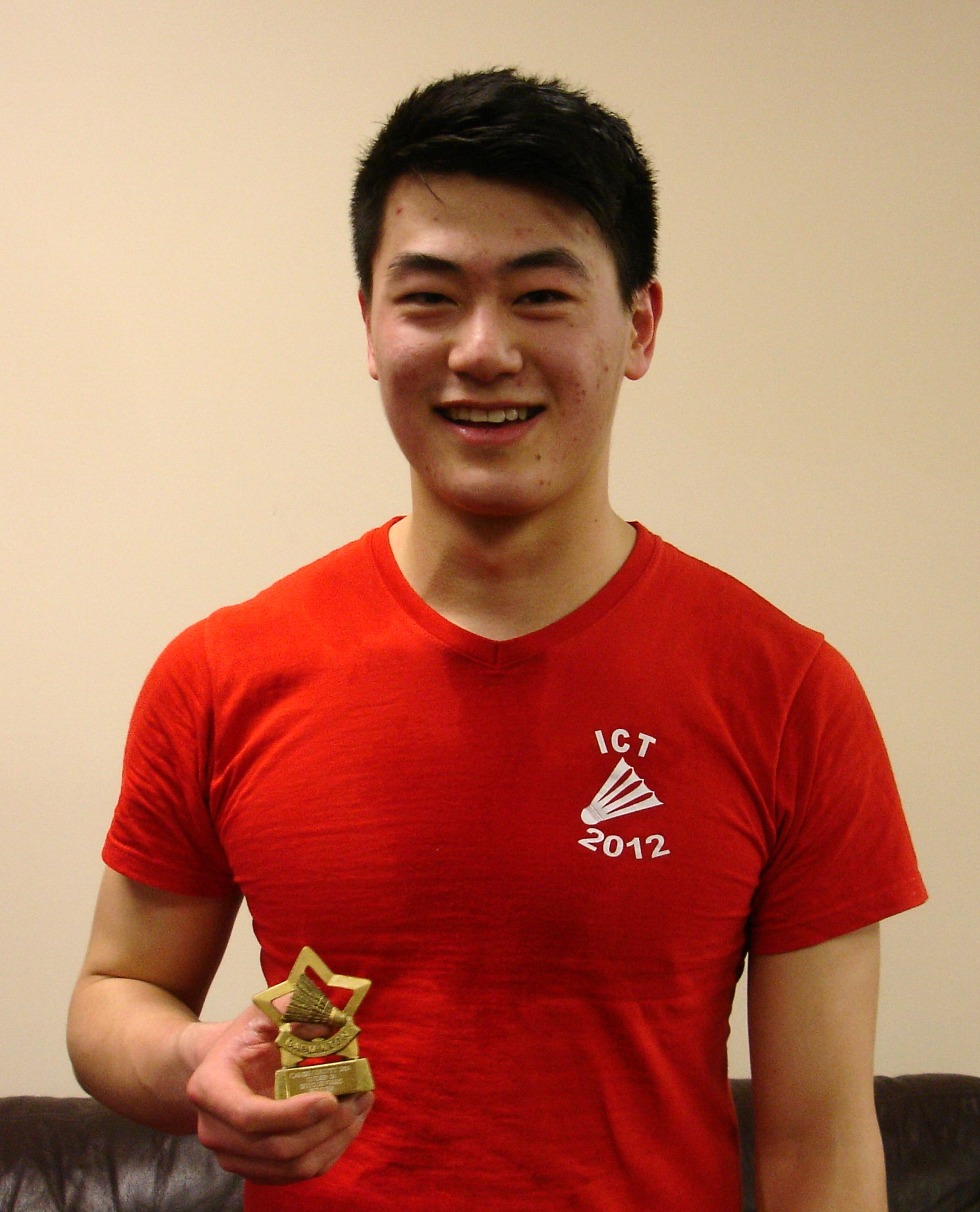 Tom Zhang: Boys Singles Winner