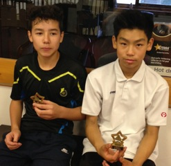 Cameron Foo and Harry Zhao  Winners: Cambs U15 Restricted Boys Doubles