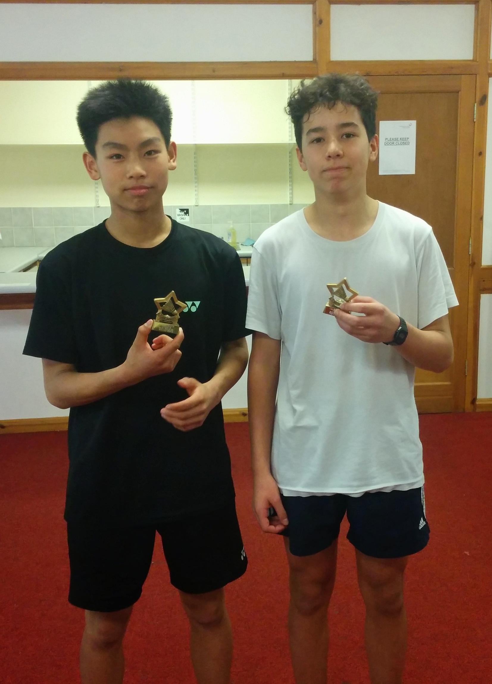 Cameron Foo and Harry Zhao: U19 Doubles Winners
