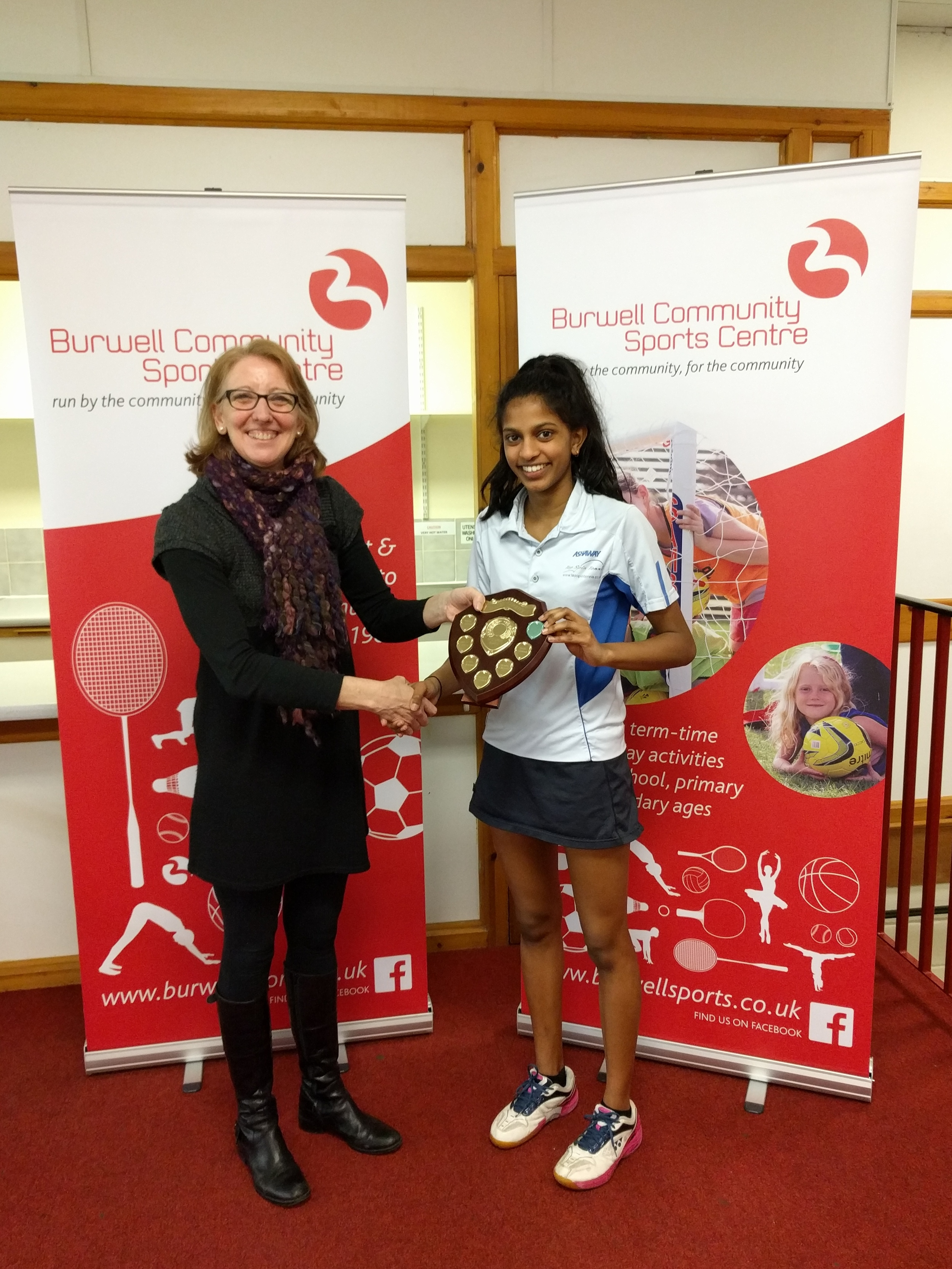 U15 Girls Singles Winner: Chanumi Gamage