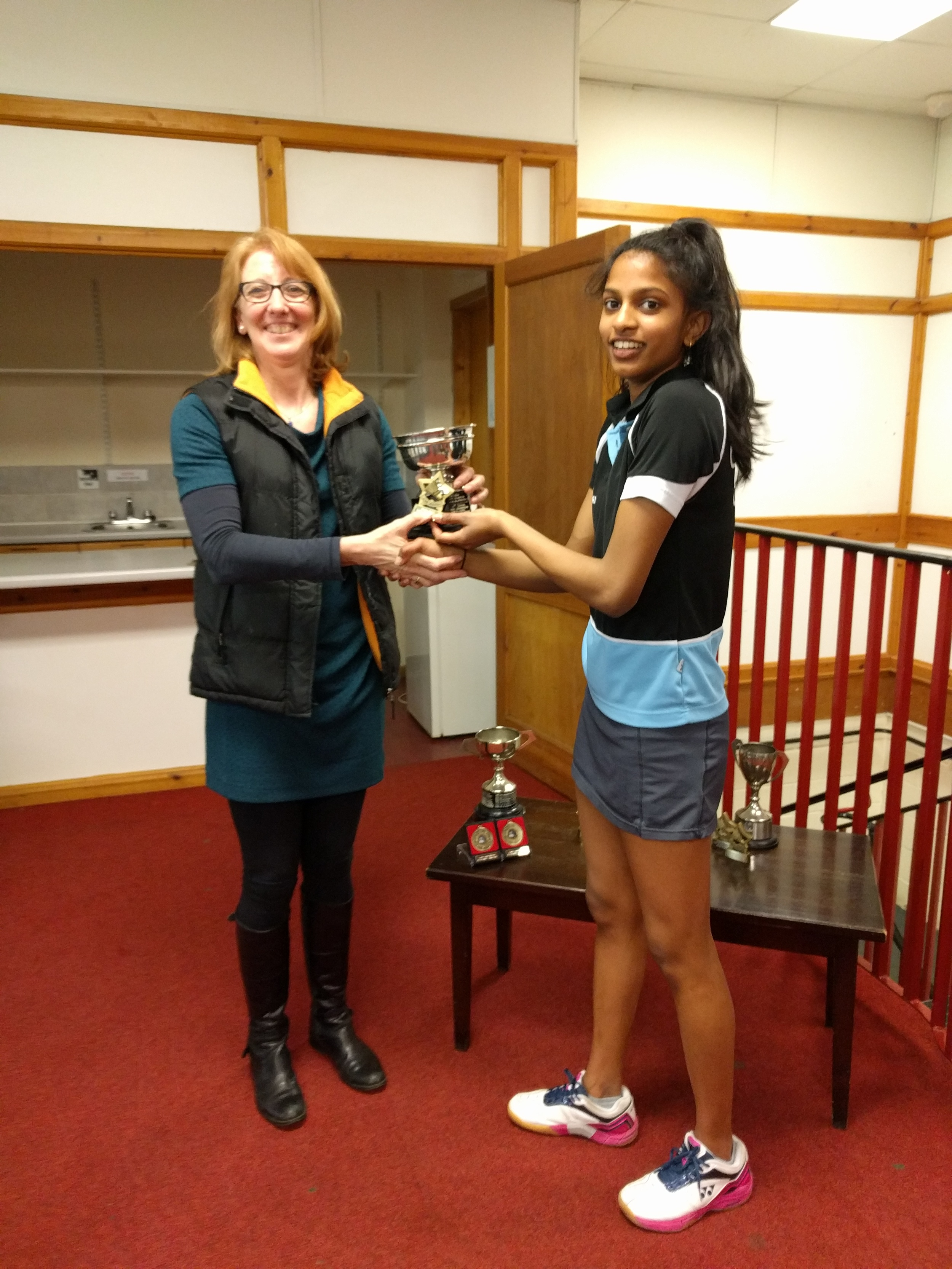 U19 Girls Singles Winner: Chanumi Gamage