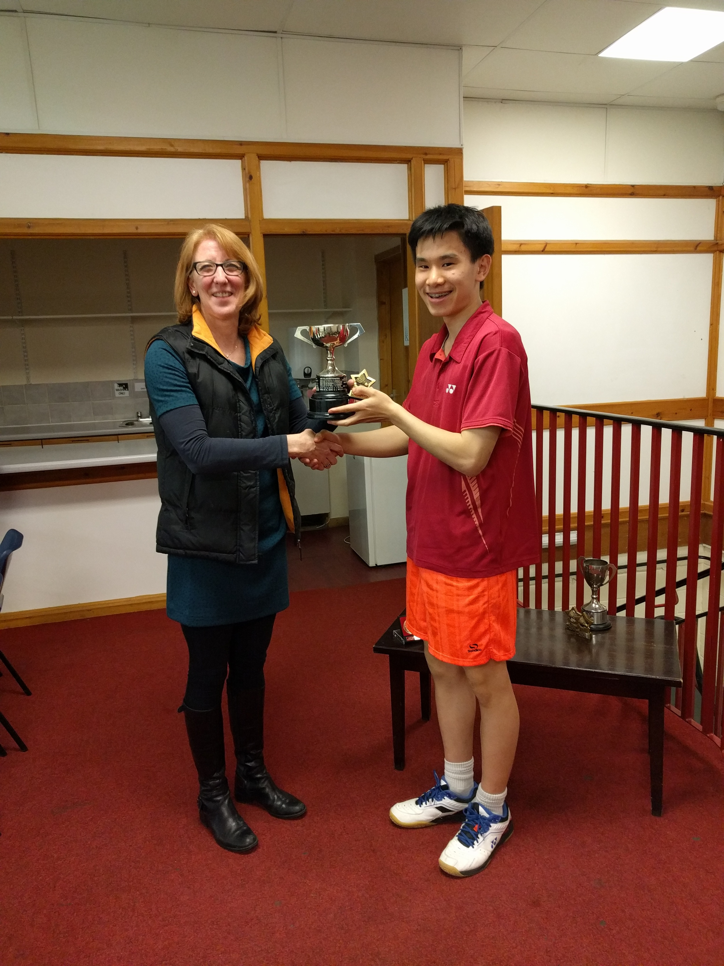 U19 Boys Singles Winner: James Xu