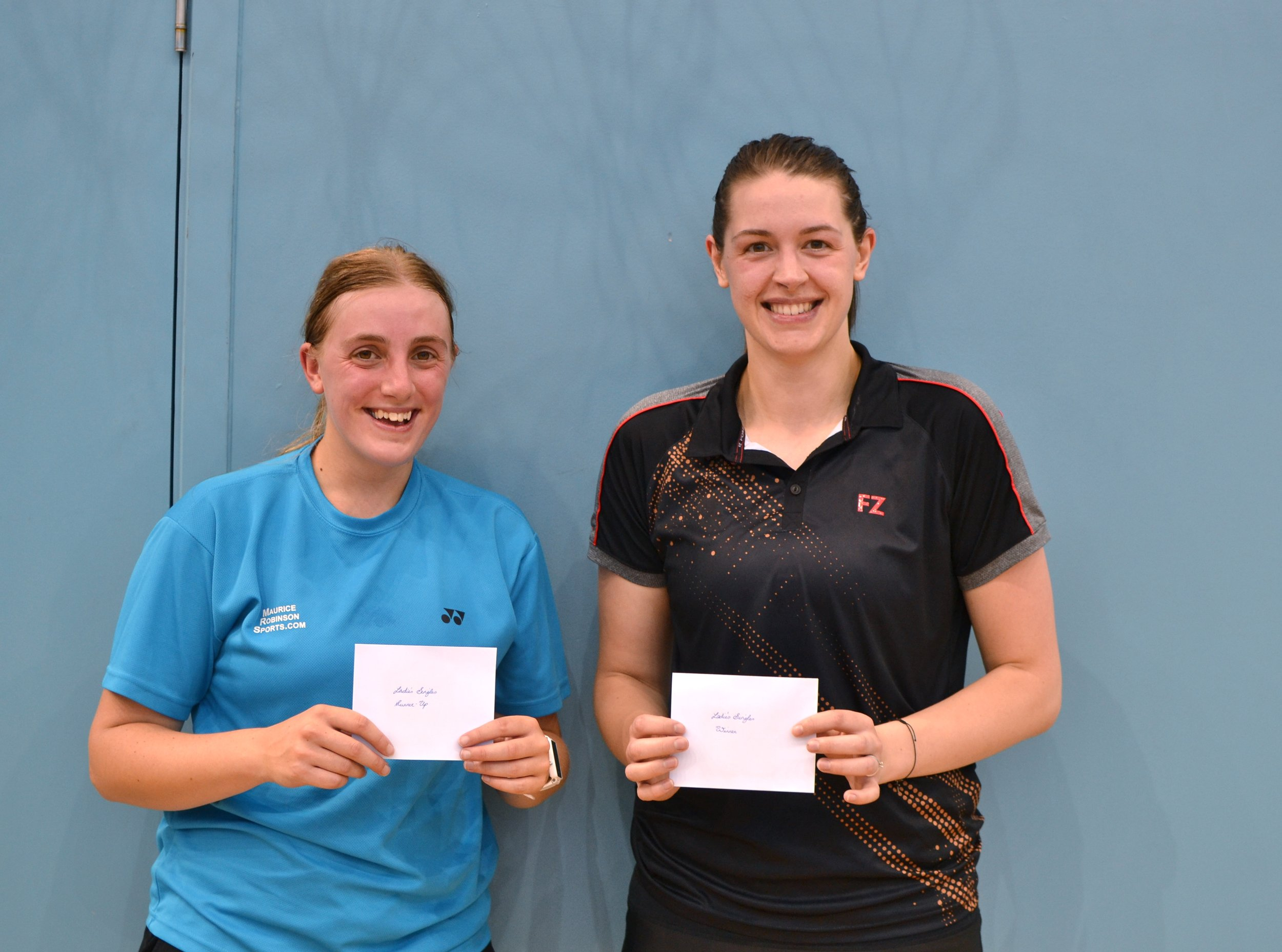 WS runner up Anne Corbett and winner Rebecca White