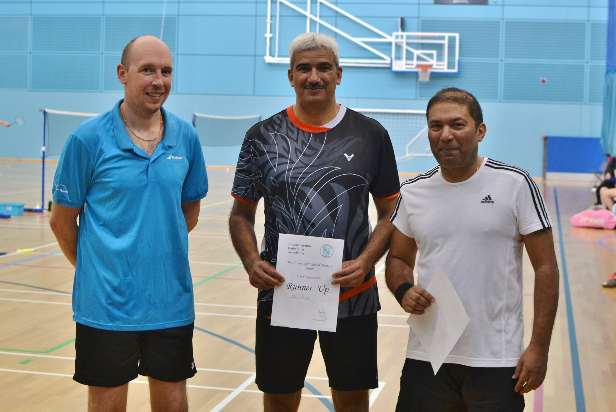 MD Masters O45 runners up: Bir Singh and Bhanu Sisupalan