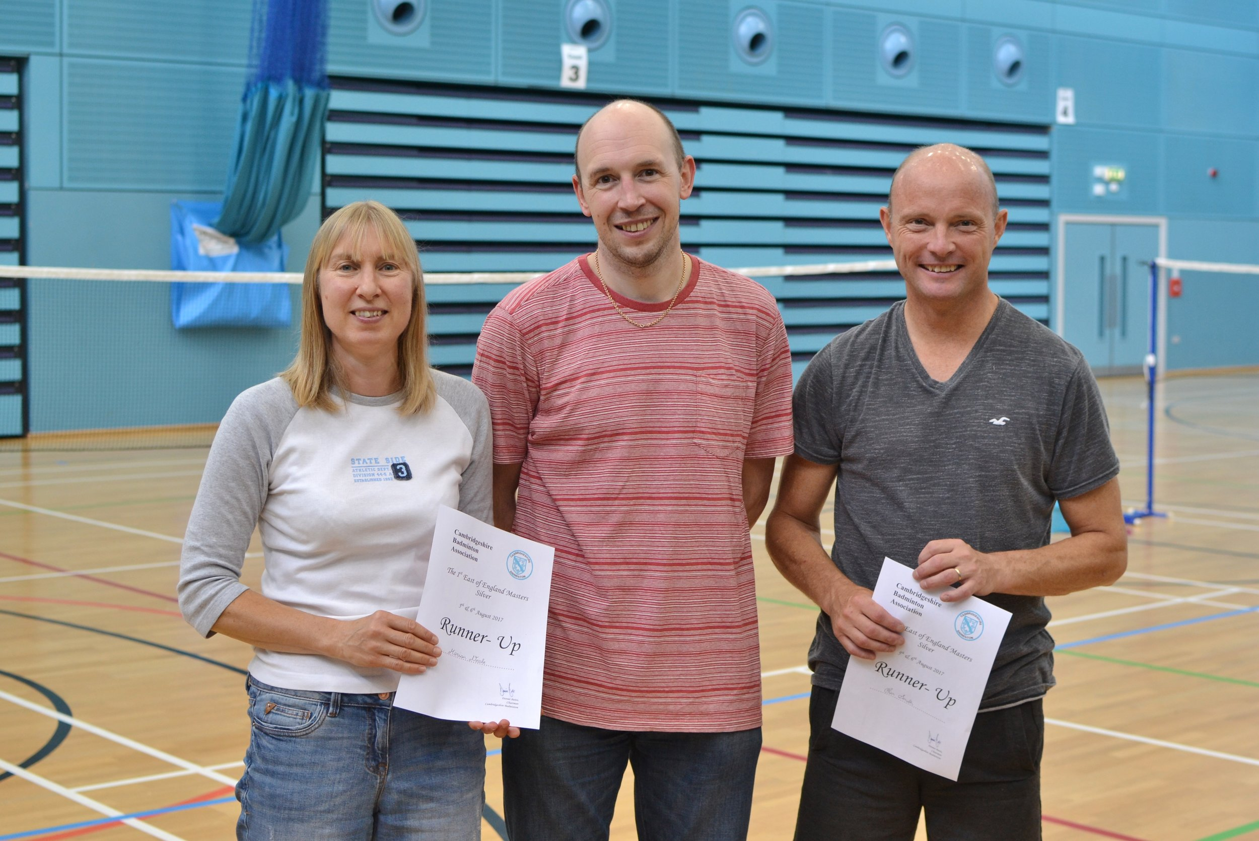 XD Masters O45 runners up Marion Neale and Ian Smith