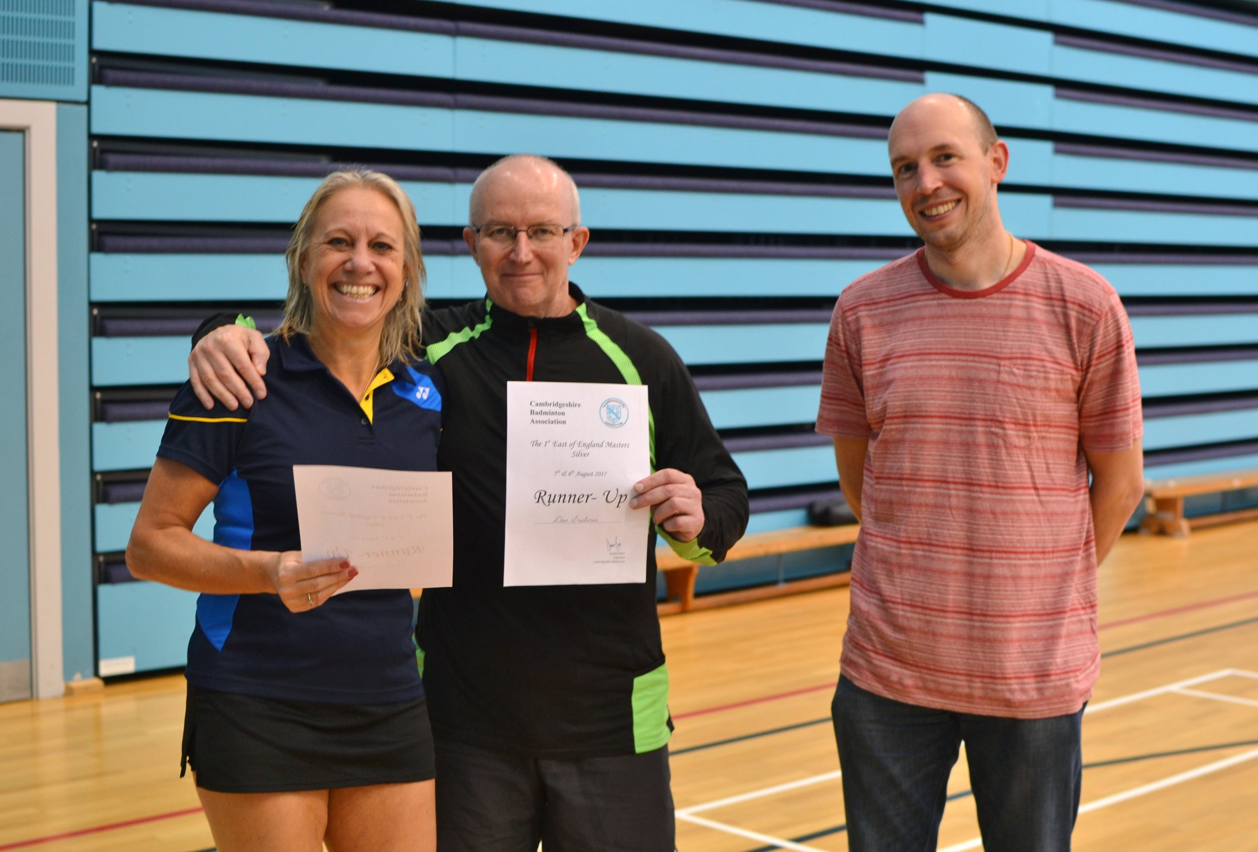 XD Masters O55 runners up Susan Tooke and Dave Greatorex