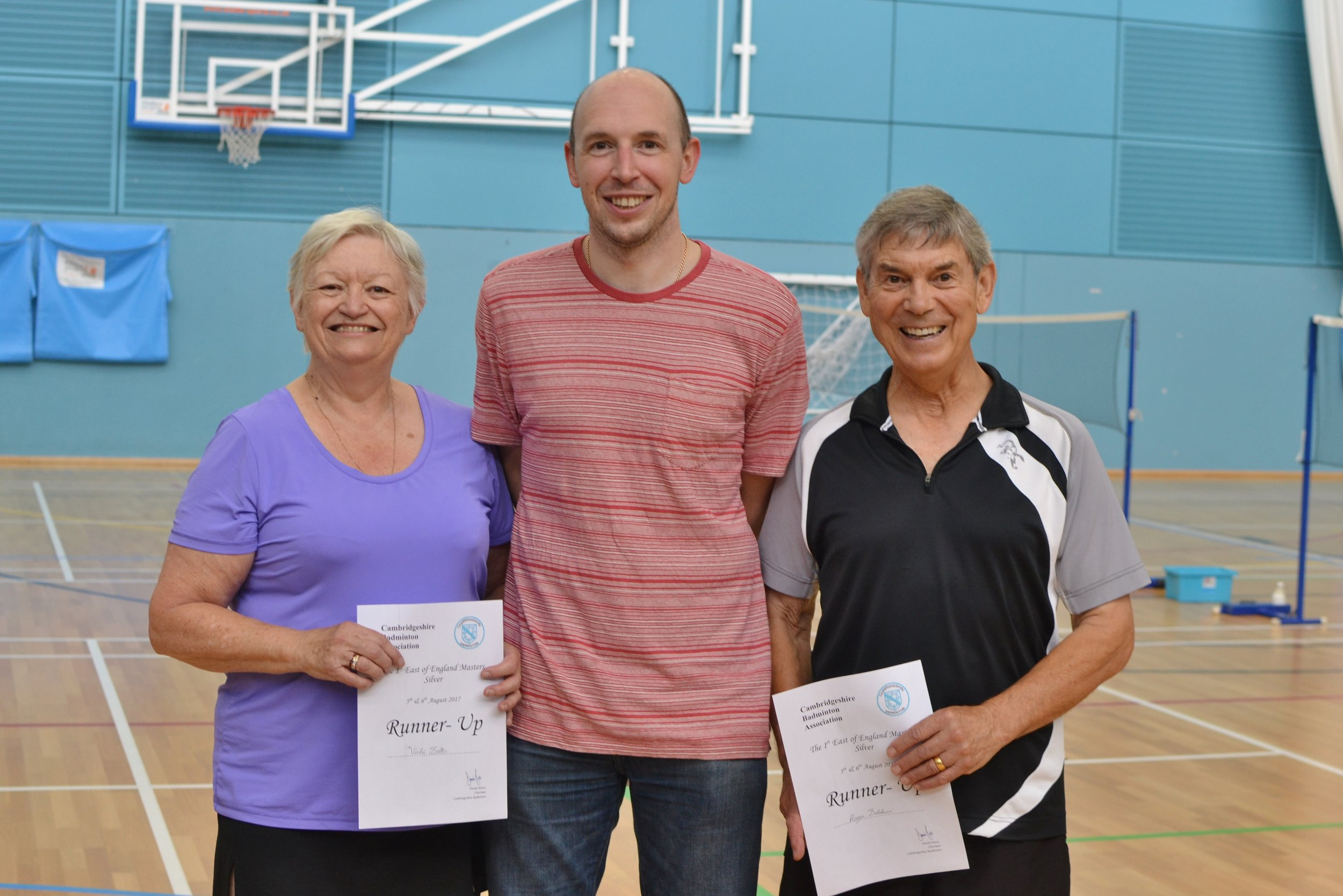 XD Masters O65 runners up Vicki Betts and Roger Baldwin