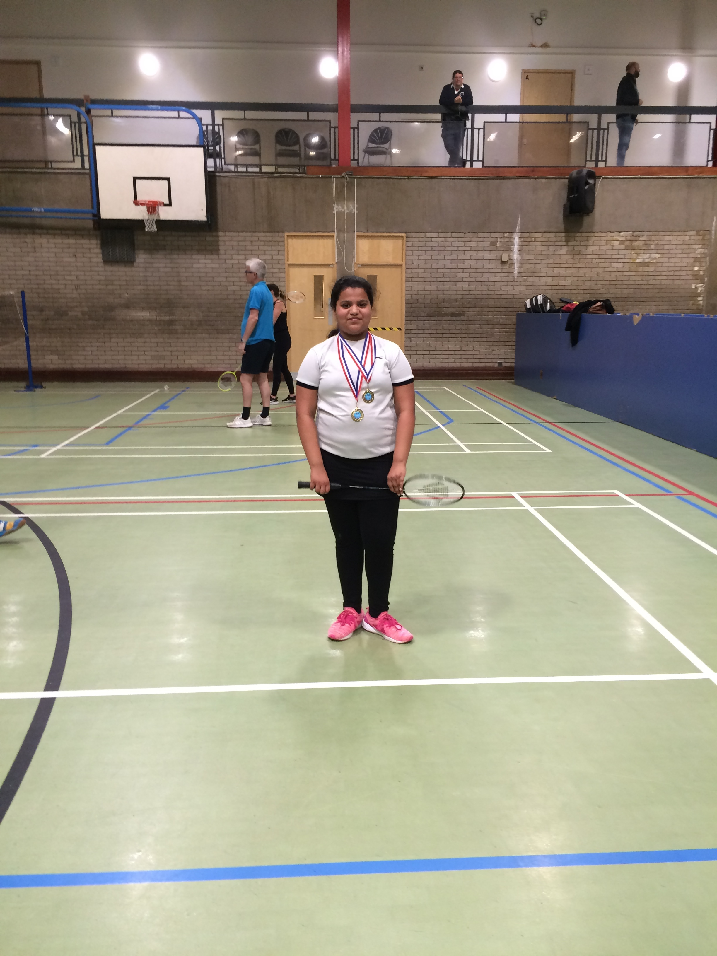 U11/U13 girls singles winner: Kasuma Anchi