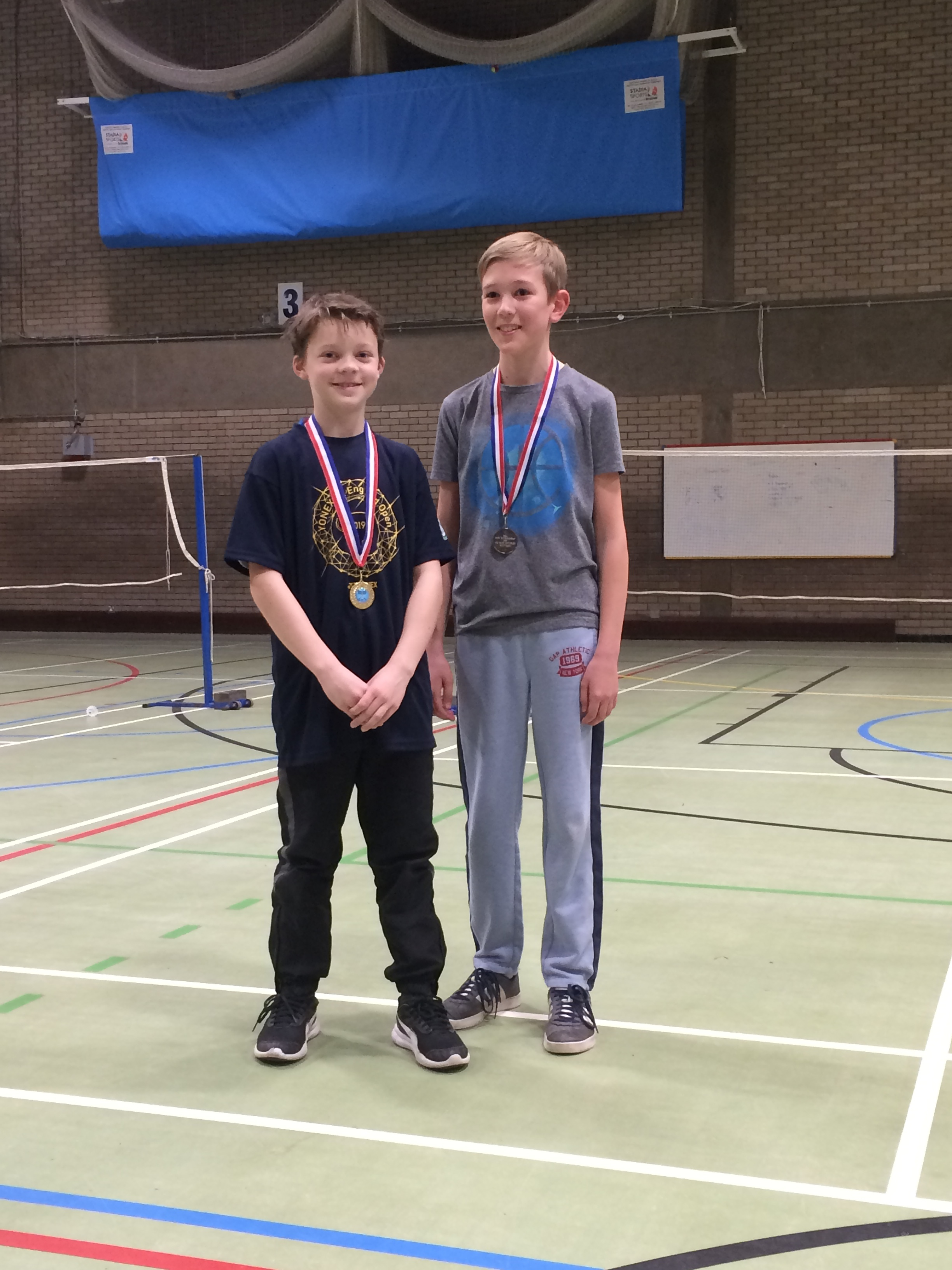U11 boys doubles winners: Wylie Mead/Lucas Lowther
