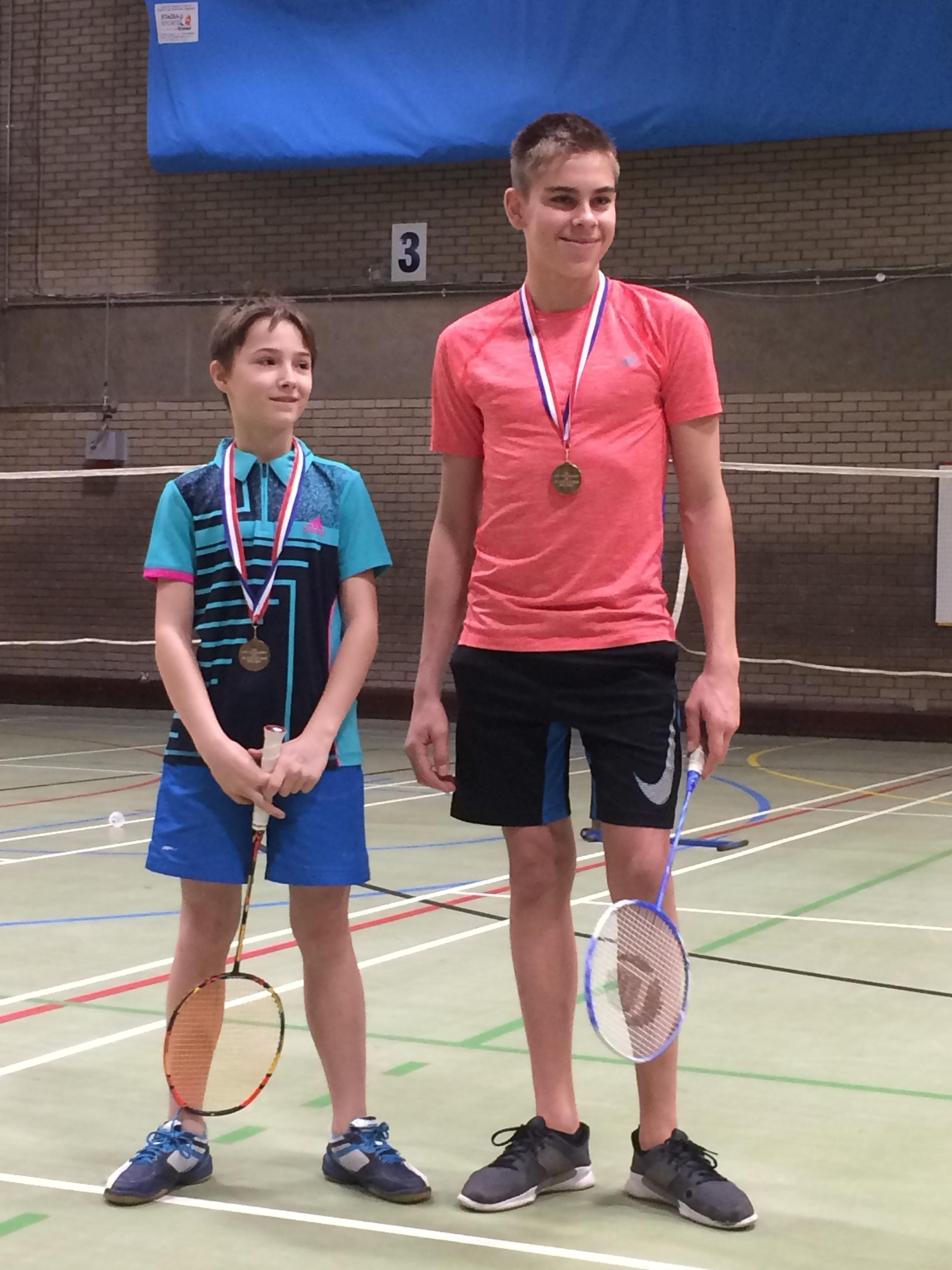 U15 boys doubles winners: Nikita Larin/George Frakin