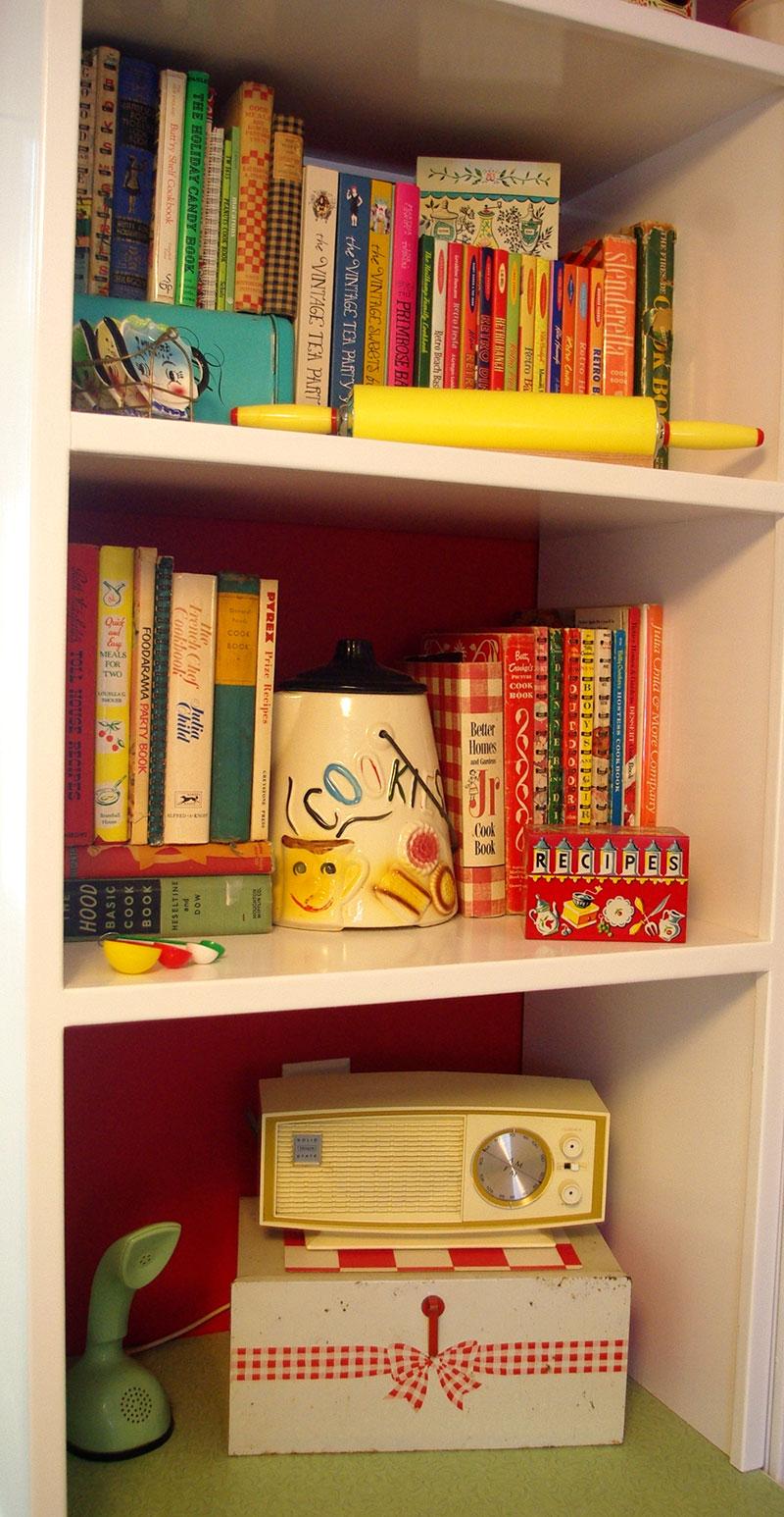 My new cookbook shelf!