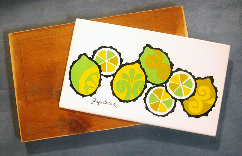 The lemon tile and scrap board