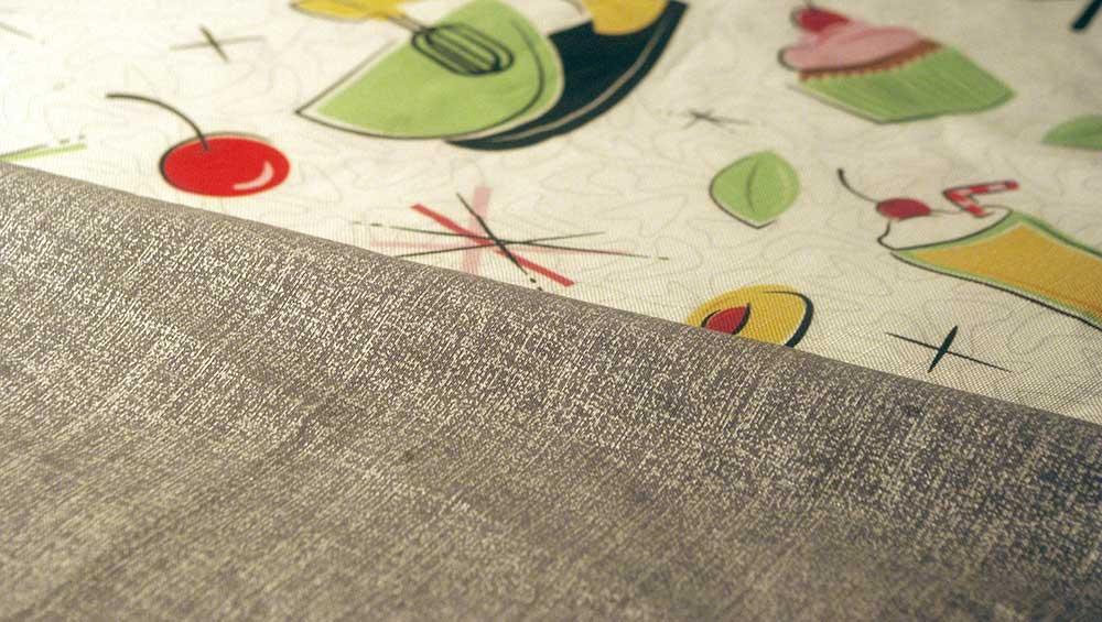 Grey contrast fabric