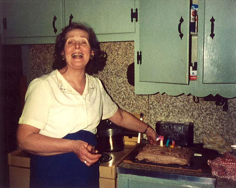 My Grandam Connor, in her kitchen.