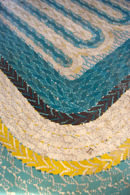 Close up of the faux-braided rug. I saved a scrap of this before it got covered up.