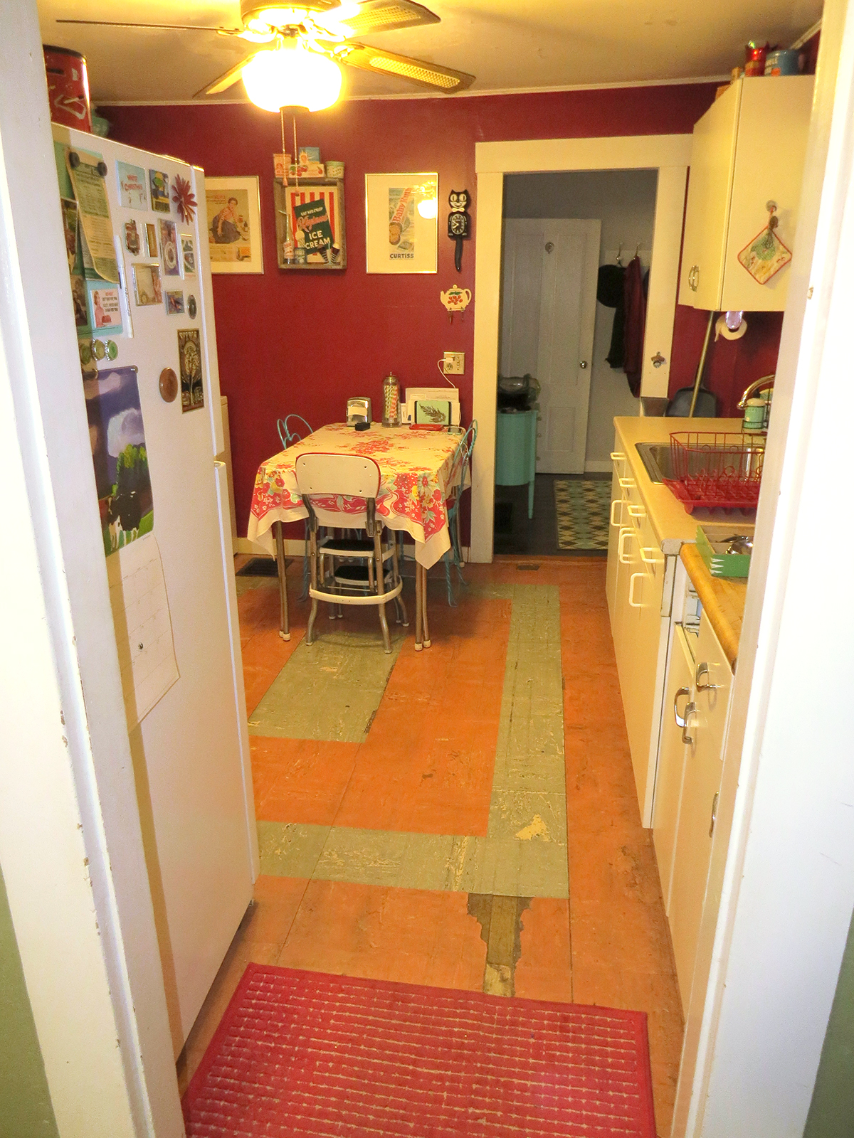 View of our old kitchen, from the dining room.