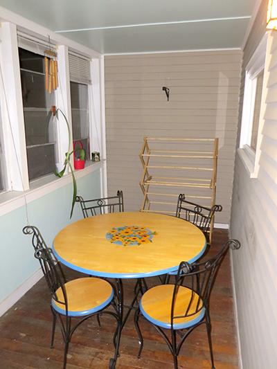The original porch area.