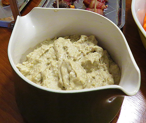 The finished Baba Ghanoush