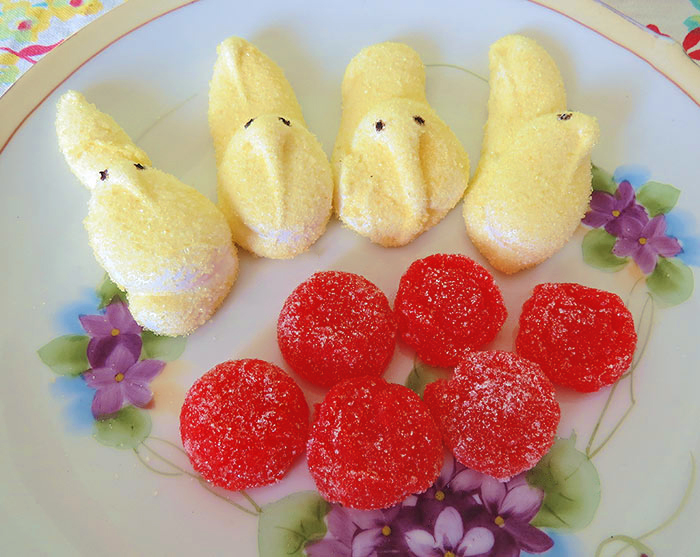 The finished Peeps and Jellies