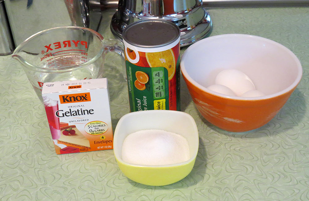 The ingredients for the filling