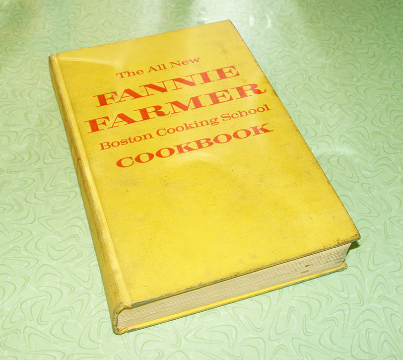 "The 1959 addition of ""The New Fannie Farmer Boston Cooking School Cookbook"""