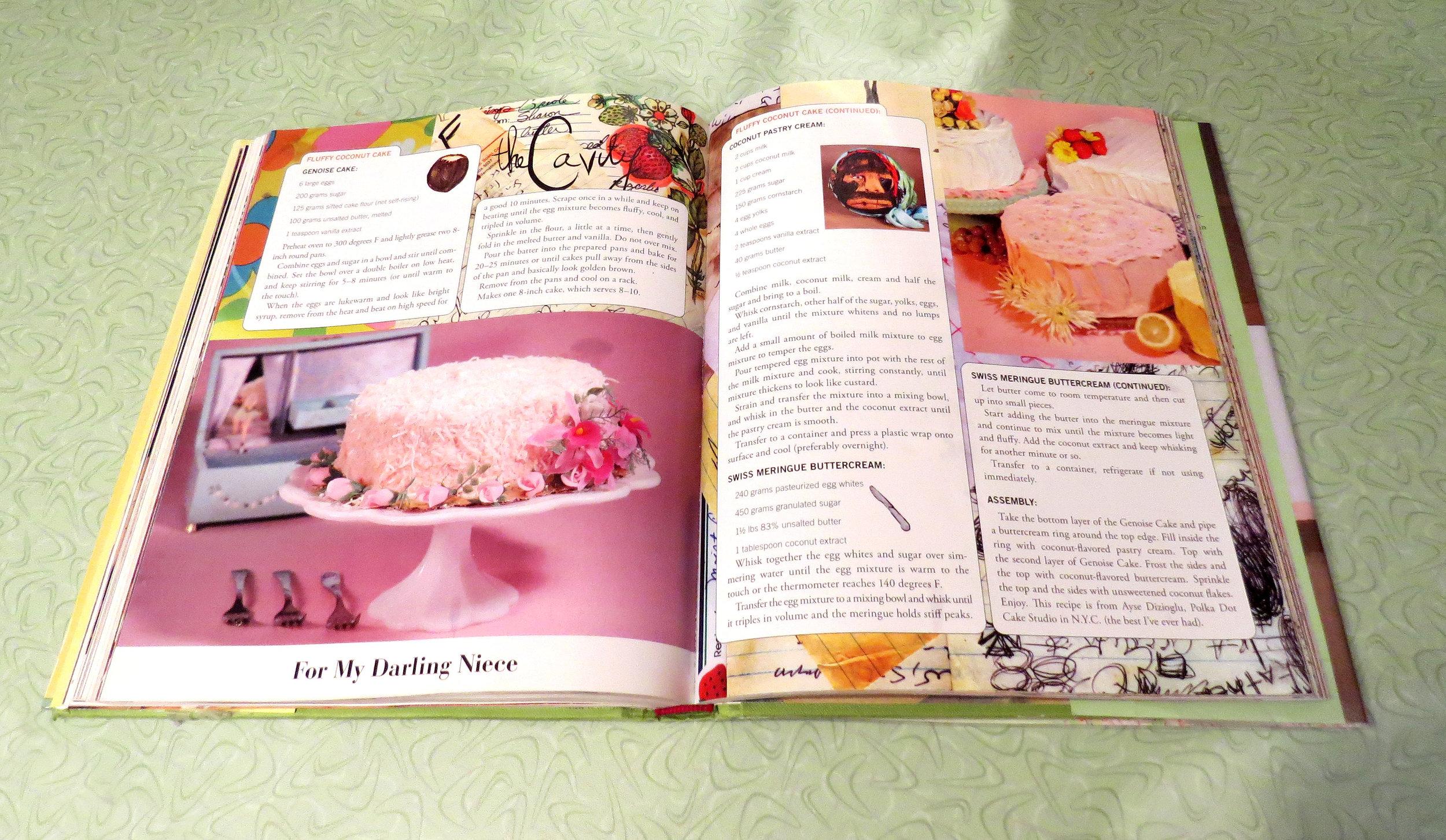 The recipe for coconut cake