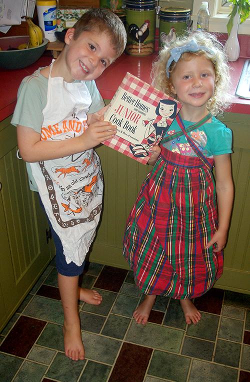 My helpers Caleb and Julia, host and hostess of tomorrow.