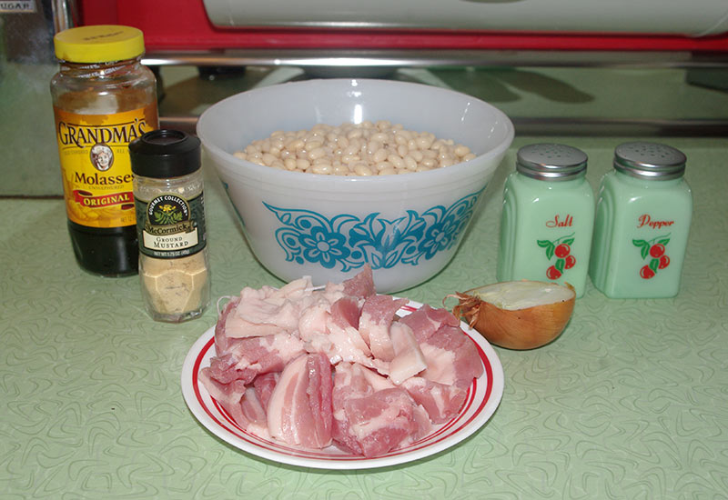 The ingredients for the Durgin-Park recipe.