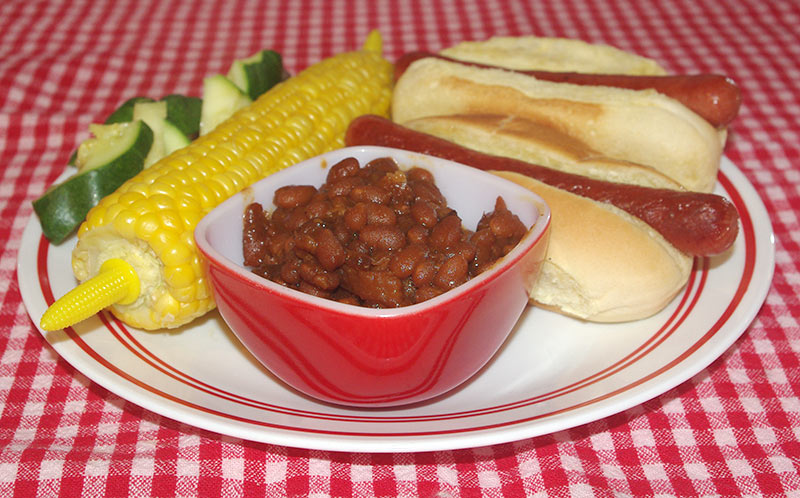 The beans make the perfect side dish for this summertime meal.
