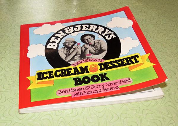 """Ben & Jerry's Homemade Ice Cream & Dessert Book"", published 1987."