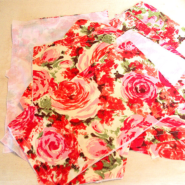 Bodice and underlining pieces