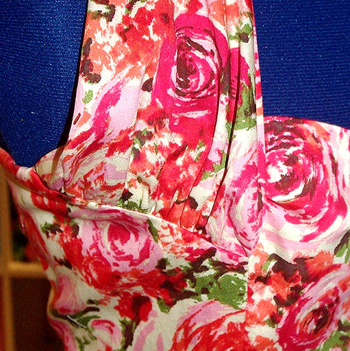 A close-up of one of the straps to the bodice.