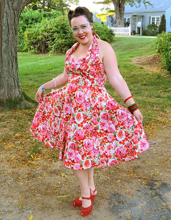 Me, in my new dress at the New England Shake-Up