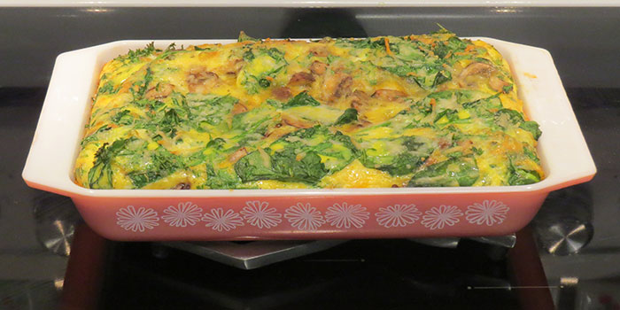 The final frittata, just out of the oven