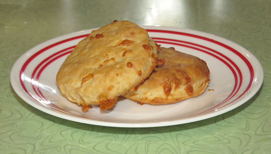 A plate of cheese biscuits