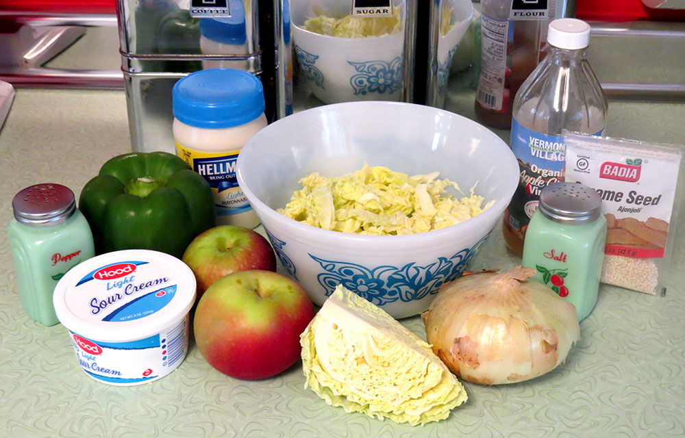 Ingredients for Country Cottage Slaw