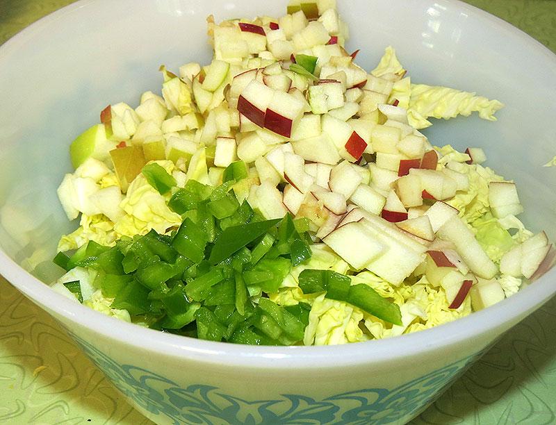 Vegetables chopped