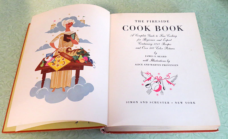 Title page of the cookbook showing a few of the Provensen Illustration